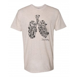 Breathe Bravely  American Apparel - Tri-blend Track T-Shirt in Oatmeal